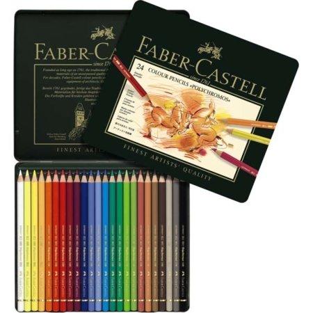 farbstifte faber castell polychromos kasten mit 24 stiften