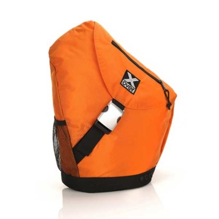 orangener fahrradrucksack