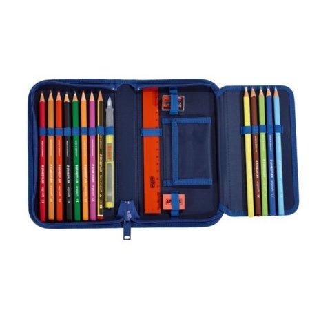 Mäppchen mit Geldbörse und Stiften Orca blau