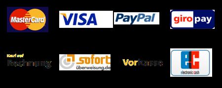 Es stehen verschiedene Zahlungsmittel zur Verfügung