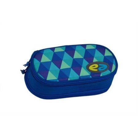 Blaue Box mit kariertem Muster
