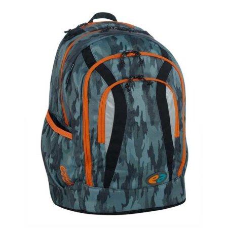Grau camouflage mit orangenen und dunklen Streifen