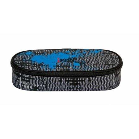 Schwarz-graues Design und Deckel mit blau