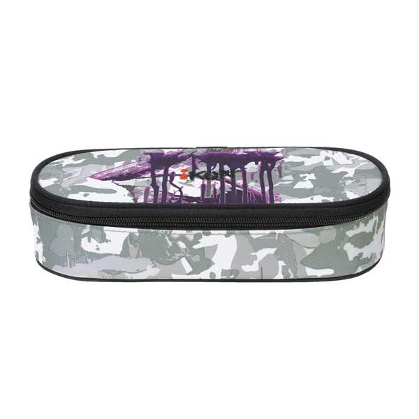 Graues Muster mit violett.