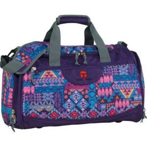 Sporttasche mit buntem geometrischen Muster