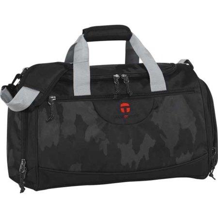 Schwarze Sporttasche mit Camouflage Muster