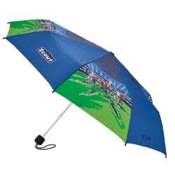 Schirm blau und ruen Fußball