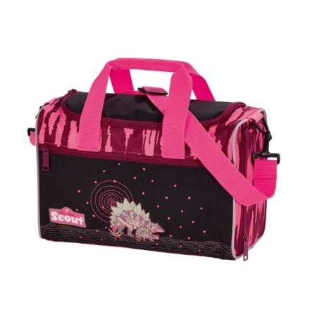 Sporttasche in pink mit Dinos