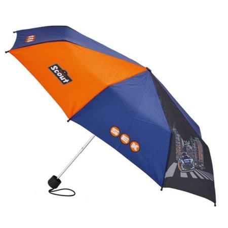 Regenschirm Polizei in blau und orange
