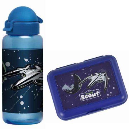 set Trinkflasche und Brotbox space