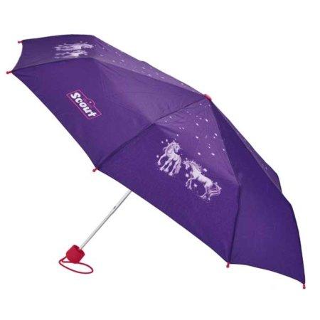 Schirm offen mit Einhoernern