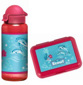 Delfin Set Brotbox und Flasche