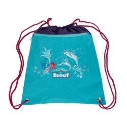 Sportbeutel blau mit roten Baendern