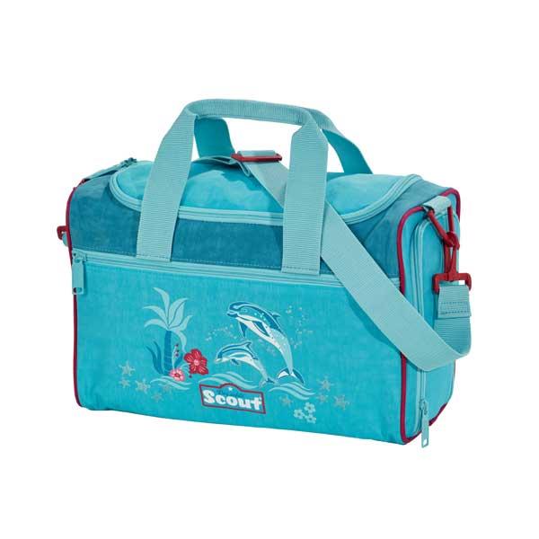 Sporttasche in blau mit Delfinen