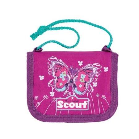 Scout Brustbeutel mit pinkem Schmetterling