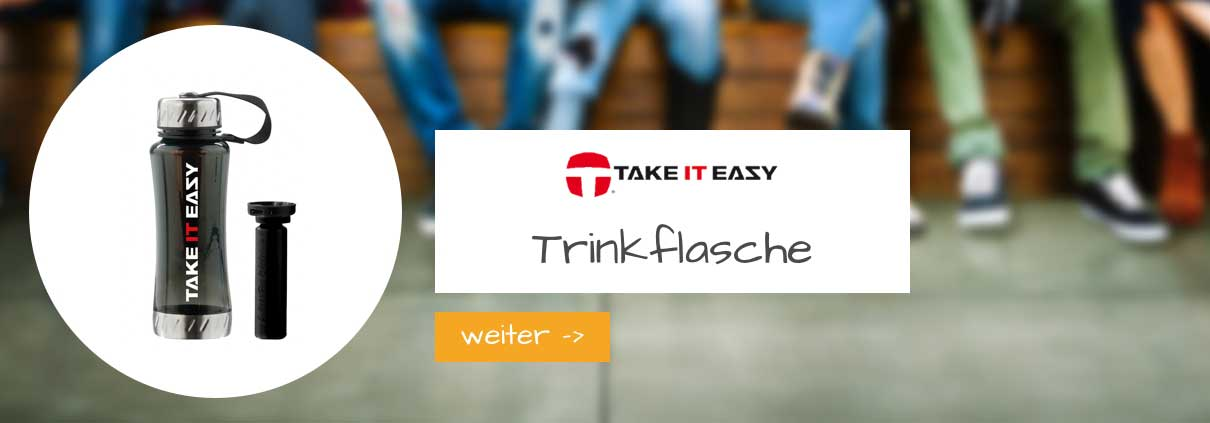 take it easy trinkflasche