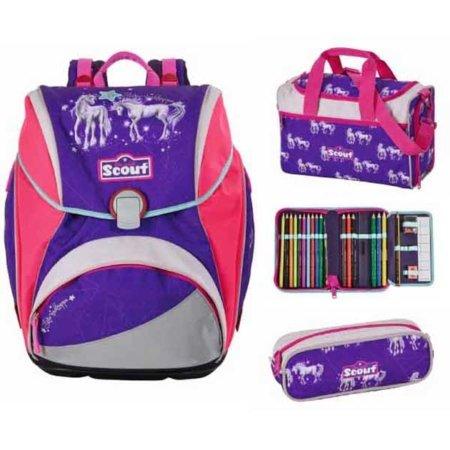 Scout Schulranzen, Sporttasche, Etui und Schlamper Etui