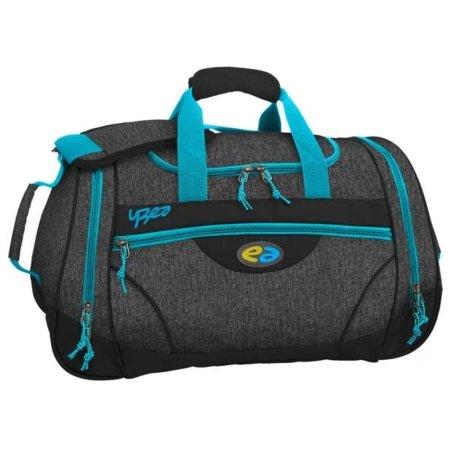 Sporttasche in schwarz und hellblau