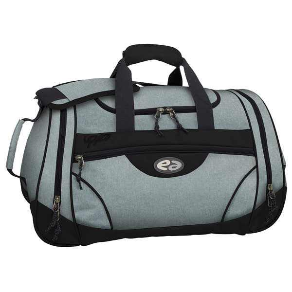 Sporttasche hellgrau und schwarz