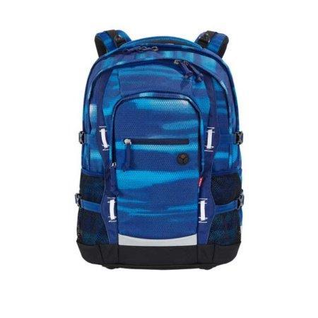 Schulrucksack in Blauschattierungen