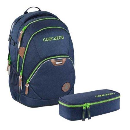 Schulrucksack blau mit Etui