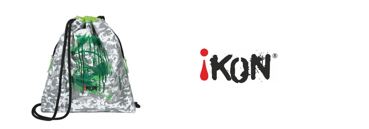Ikon Sportbeutel mit gruenen Flecken