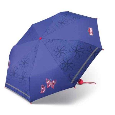 blau lila Schmetterling Schirm offen