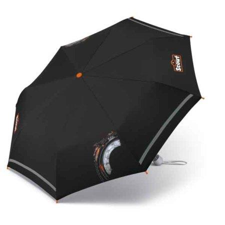 schwarzer Schirm offen