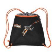 sportbeutel orange und schwarz