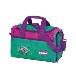 sporttasche lila und türkis