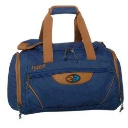 Sporttasche dunkelblau und braun