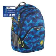 Schulrucksack front in blau